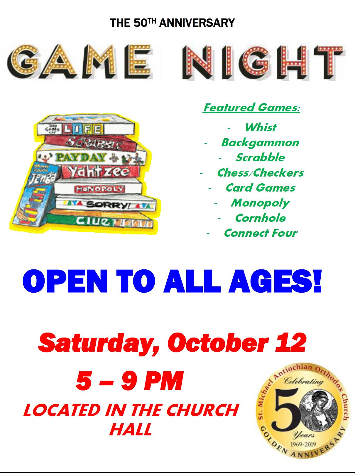 50th Anniversary Game Night