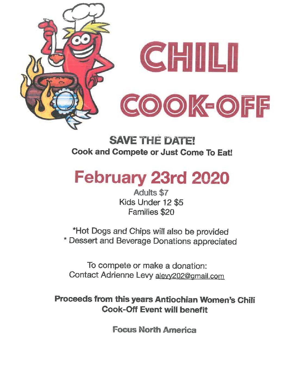 Annual Chili Cook-off - Meat Fare Sunday
